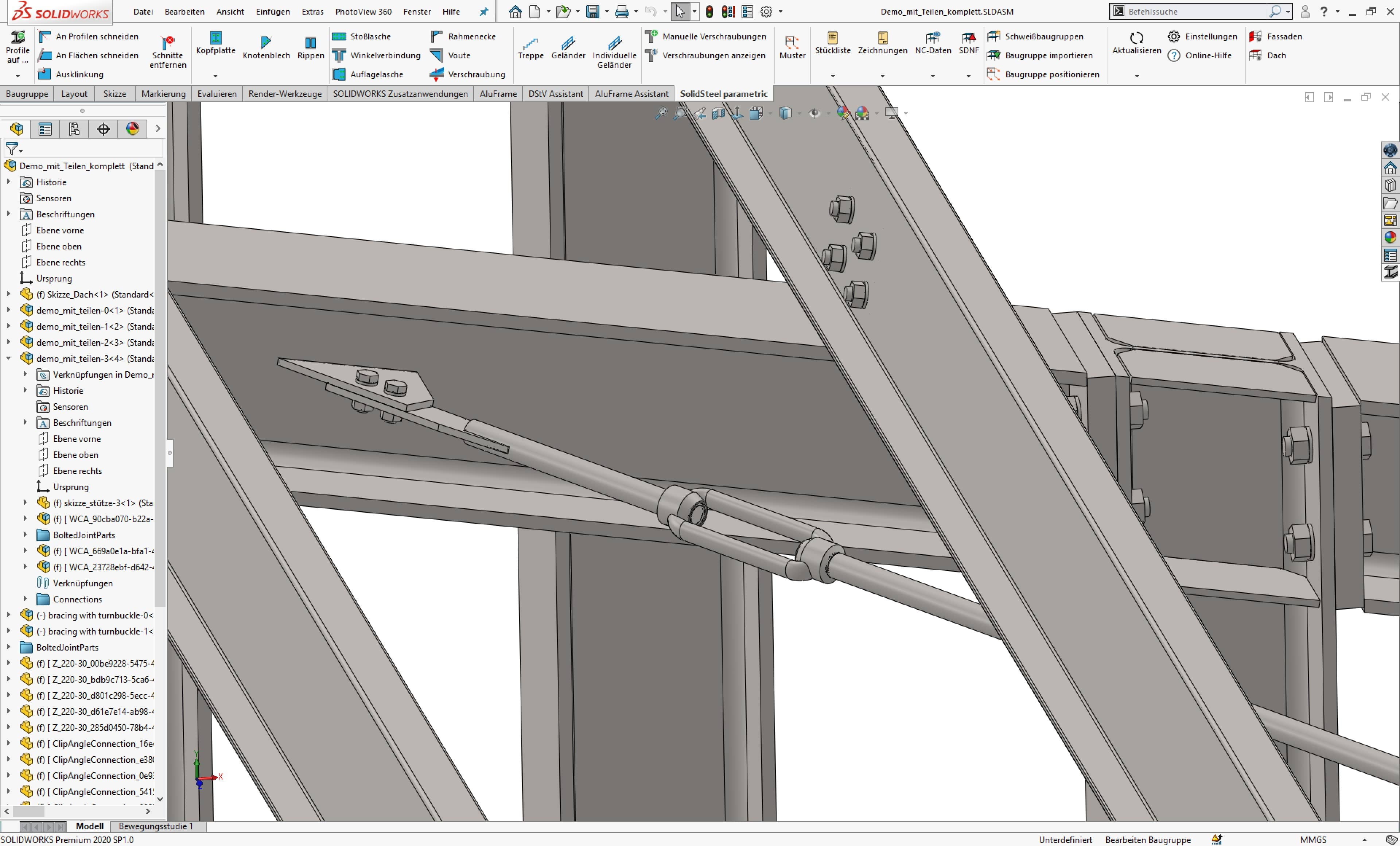 SolidSteel parametric for SOLIDWORKS